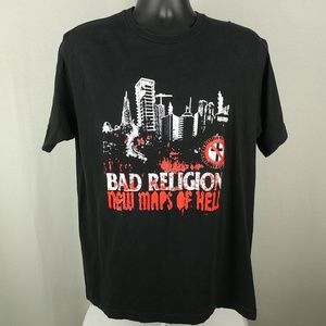Bad Religion Band Shirt New Maps of Hell